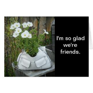 Tarjeta del amigo del monedero de la flor