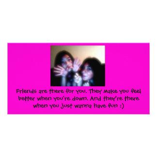 Tarjeta del amigo tarjeta fotografica personalizada