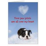 Tarjeta del amor adolescente de Boston Terrier