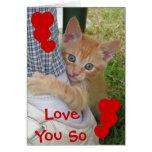 Tarjeta del amor de Dax del gatito