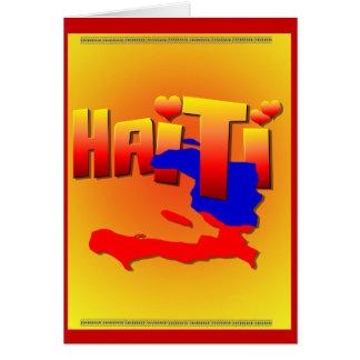 Tarjeta del AMOR de HAITÍ