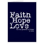 Tarjeta del amor de la esperanza de la fe del vint