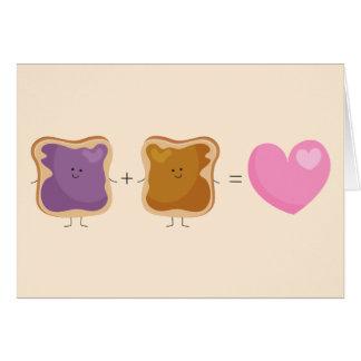 Tarjeta del amor de la mantequilla y de la jalea d