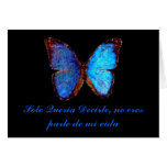 Tarjeta del amor de la mariposa en español