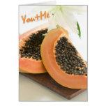 Tarjeta del amor de la papaya