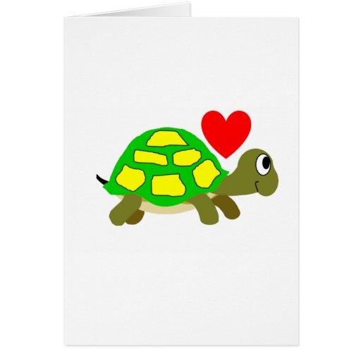 Tarjeta del amor de la tortuga