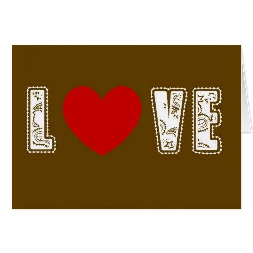 Tarjeta del amor del chocolate