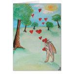 Tarjeta del amor del conejito del día de San Valen