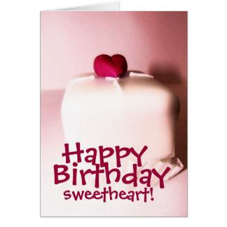 Tarjeta del amor del feliz cumpleaños