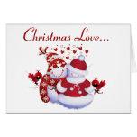 Tarjeta del amor del navidad