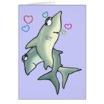 Tarjeta del amor del tiburón