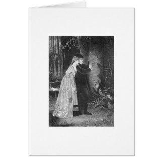 Tarjeta del amor del Victorian
