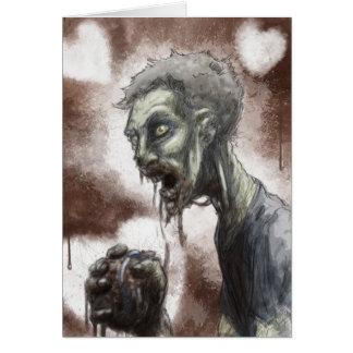 Tarjeta del amor del zombi