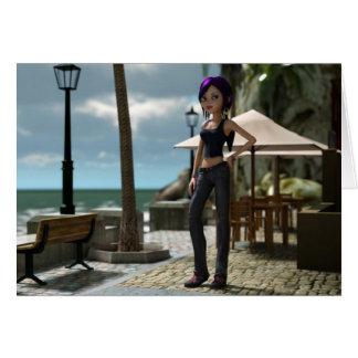 Tarjeta del Amy de Toon de la playa