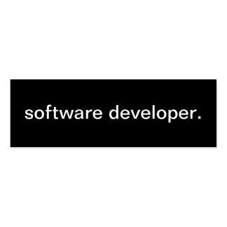 Tarjeta del analista de programas informáticos plantilla de tarjeta de negocio