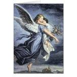 Tarjeta del ángel con rezo