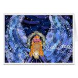 Tarjeta del ángel de Chakra - ángel azul