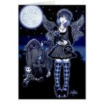 Tarjeta del ángel de la luna azul de Tabitha