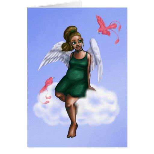 Tarjeta del ángel de la nube