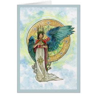 Tarjeta del ángel de la Santa Lucía