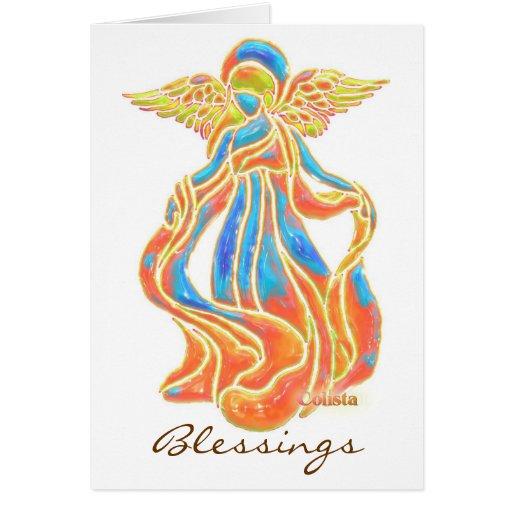 Tarjeta del ángel de las bendiciones