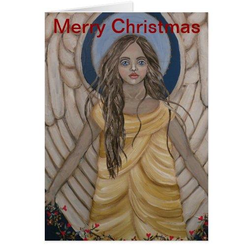 Tarjeta del ángel de las Felices Navidad