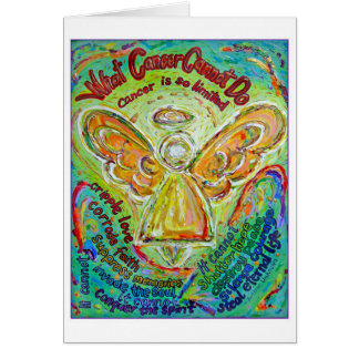 Tarjeta del ángel del cáncer del arco iris