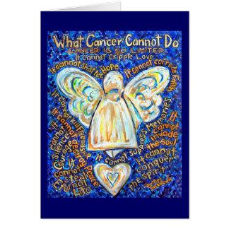 Tarjeta del ángel del cáncer del azul y del oro