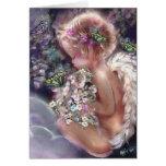 Tarjeta del ángel del jardín del cielo