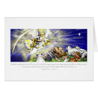 Tarjeta del ángel del navidad
