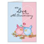 tarjeta del aniversario - 40.os pájaros del amor d
