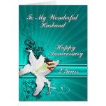 tarjeta del aniversario de 2 años para un marido
