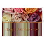 Tarjeta del aniversario de boda - raya en colores