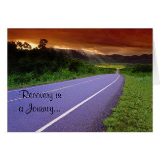 Tarjeta del aniversario de la recuperación