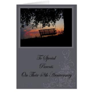 Tarjeta del aniversario de los padres 48 os