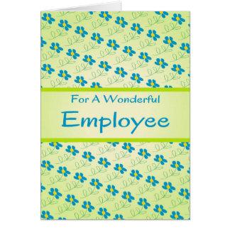 Tarjeta del aniversario del empleado con diseño fl