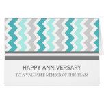 Tarjeta del aniversario del empleado de Chevron de