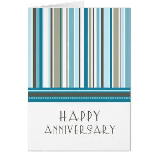 Tarjeta del aniversario del empleado de las rayas