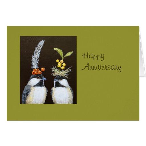 tarjeta del aniversario del pájaro todos nosotros
