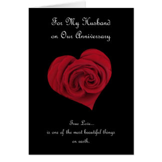 Tarjeta del aniversario para el marido