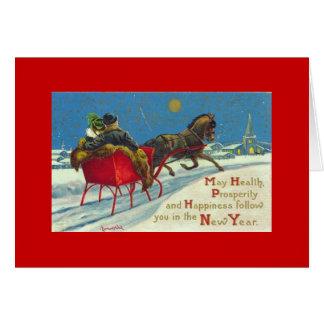 tarjeta del Año Nuevo