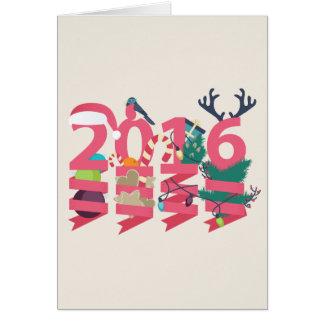 Tarjeta del Año Nuevo 2016