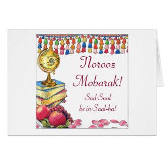 Tarjeta del Año Nuevo de Norooz Mobarak