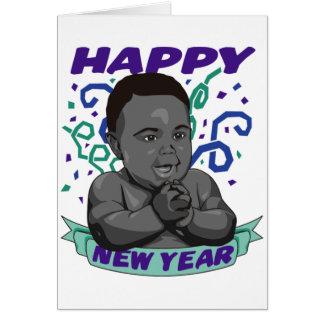 Tarjeta del Año Nuevo del bebé