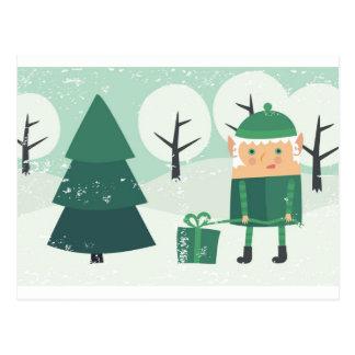 tarjeta del Año Nuevo Postal