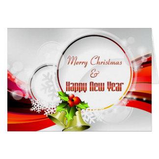 Tarjeta del Año Nuevo y de felicitación de las Fel
