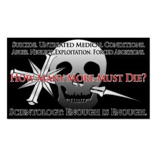 Tarjeta del Anti-Scientology Info (el público en Tarjetas De Visita