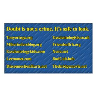 Tarjeta del Anti-Scientology Info (personal de Tarjetas De Visita