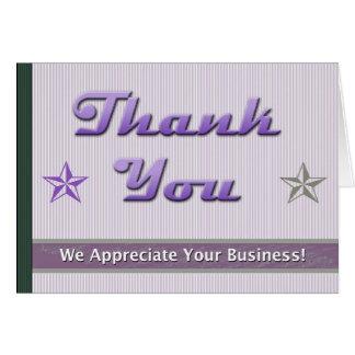 Tarjeta del aprecio del cliente