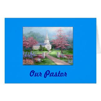 Tarjeta del aprecio del pastor